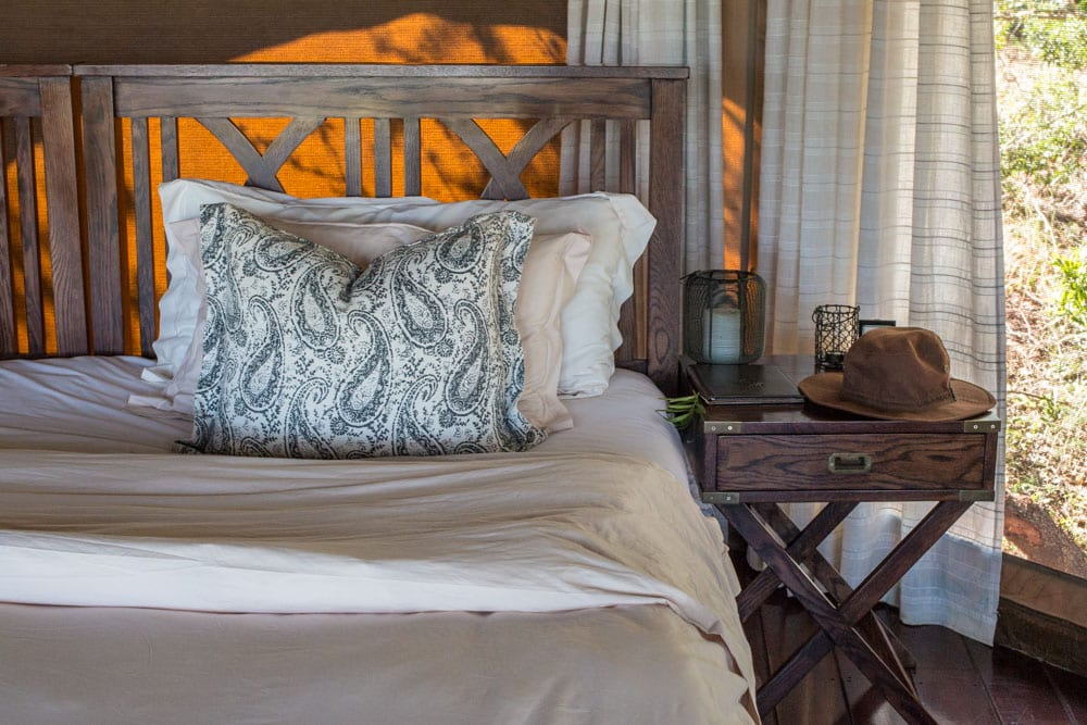 Tent Bed at Thanda Safari in South Africa