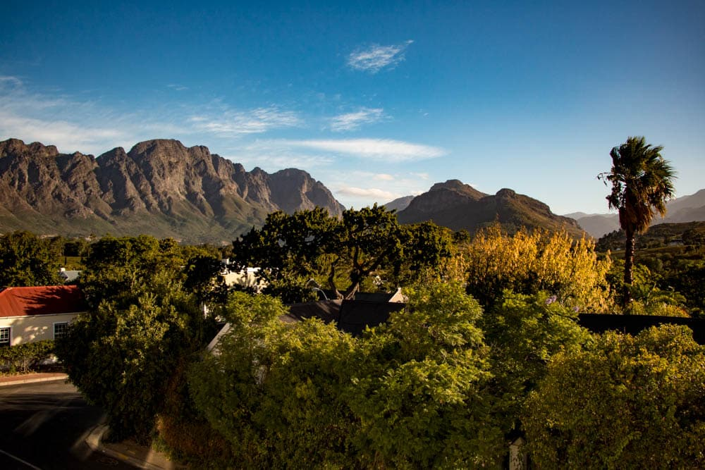 View from Franschhoek Boutique Hotel