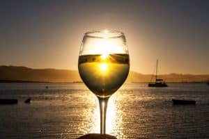 Wine Sunset at The Lofts Boutique Hotel on Thesen Island in Knysna South Africa