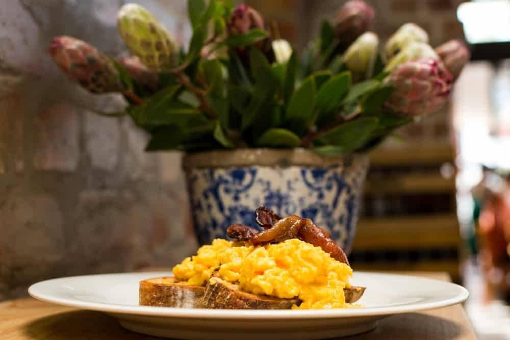 Breakfast Sandwich at Ile de Pain Bread on Thesen Island in Knysna South Africa