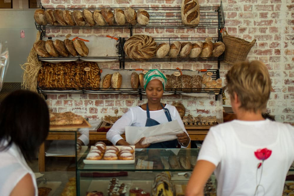 Counter at Ile de Pain Bread on Thesen Island in Knysna South Africa