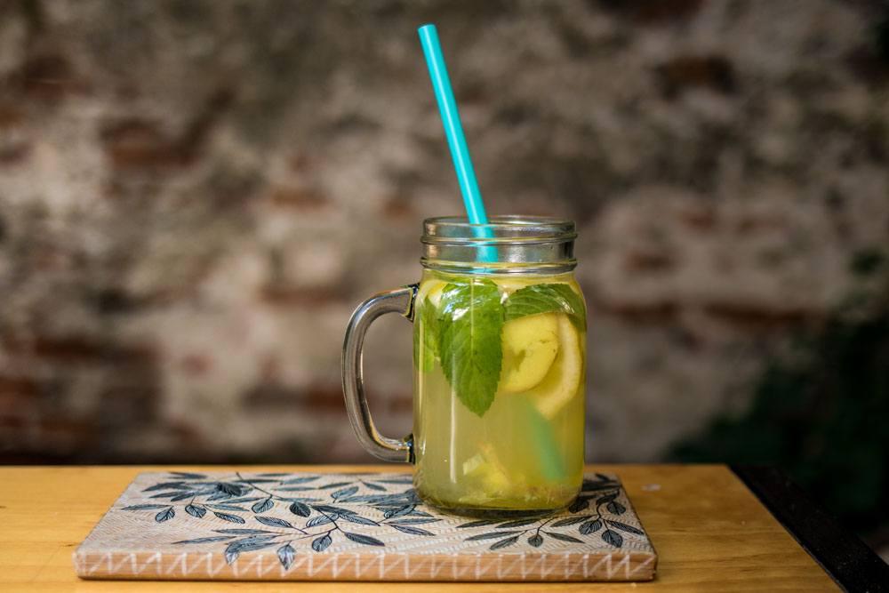 Lemonade at Atelier Pinion in Bucharest Romania