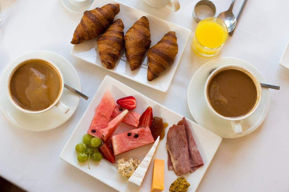 Breakfast at Clico Boutique Hotel in Johannesburg South Africa