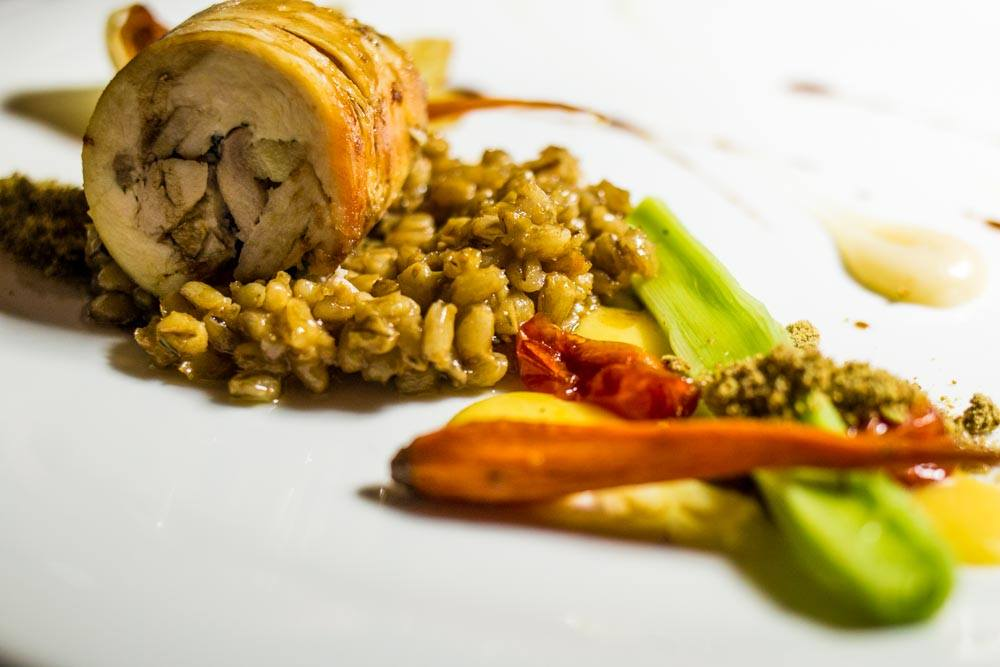 Chicken Roulade at Clico Restaurant in Johannesburg South Africa