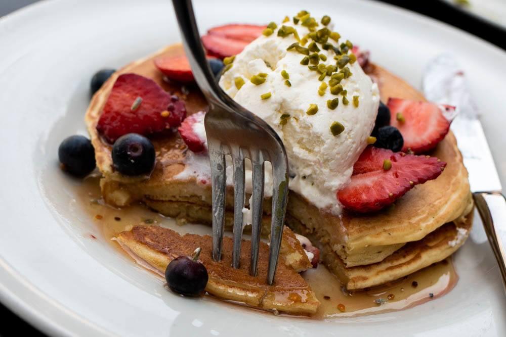 Pancakes at Frudisiac in Bucharest Romania
