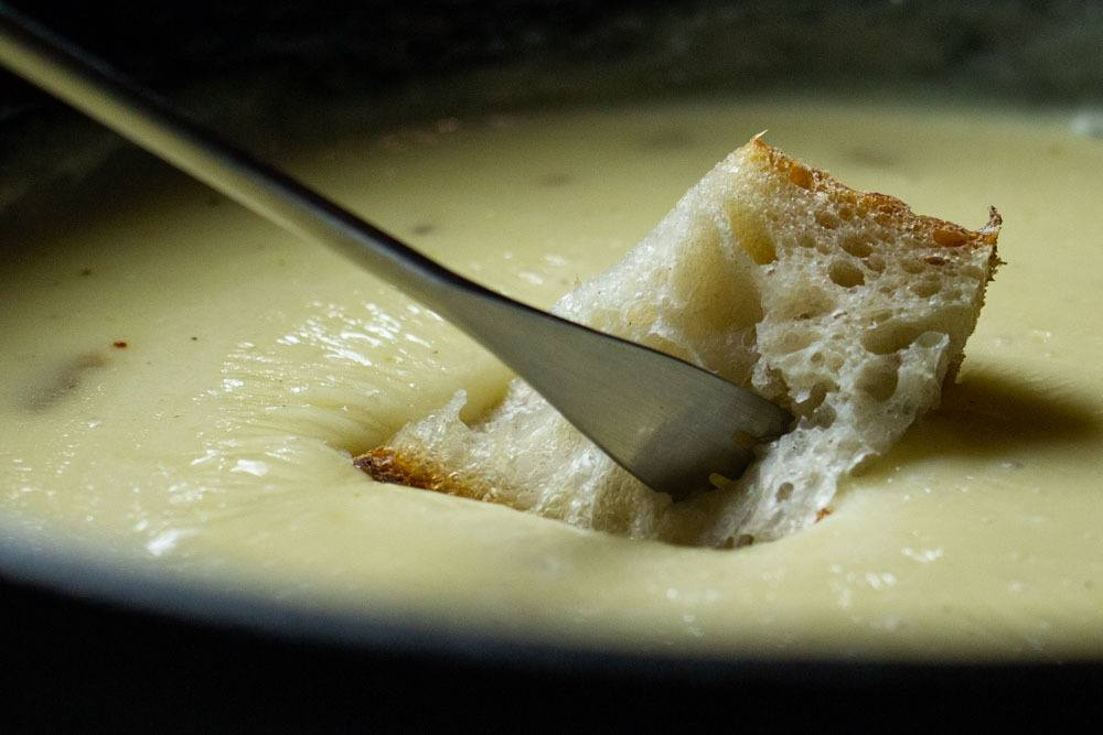 Fondue at Mesange Fromagerie in Bucharest Romania