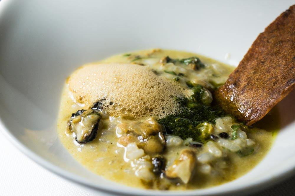Mussel and Basil Risotto at Clico Restaurant in Johannesburg South Africa