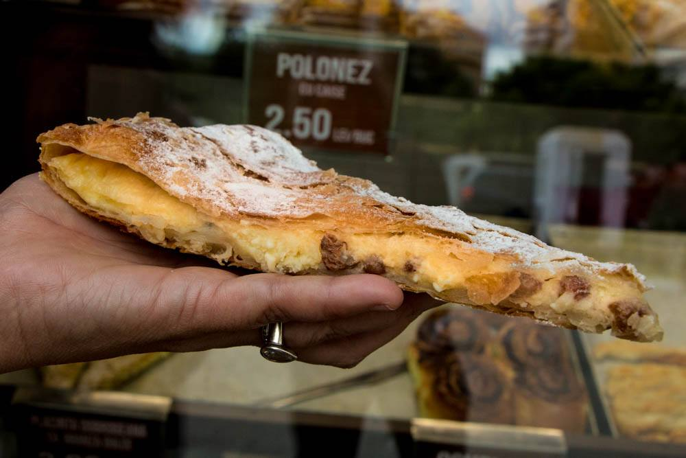 Pastry at Piața Obor in Bucharest Romania