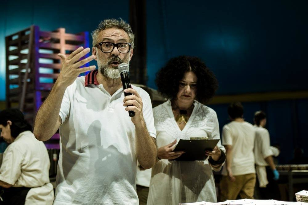 Chef Massimo Bottura at Al Meni Festival in Emilia Romagna