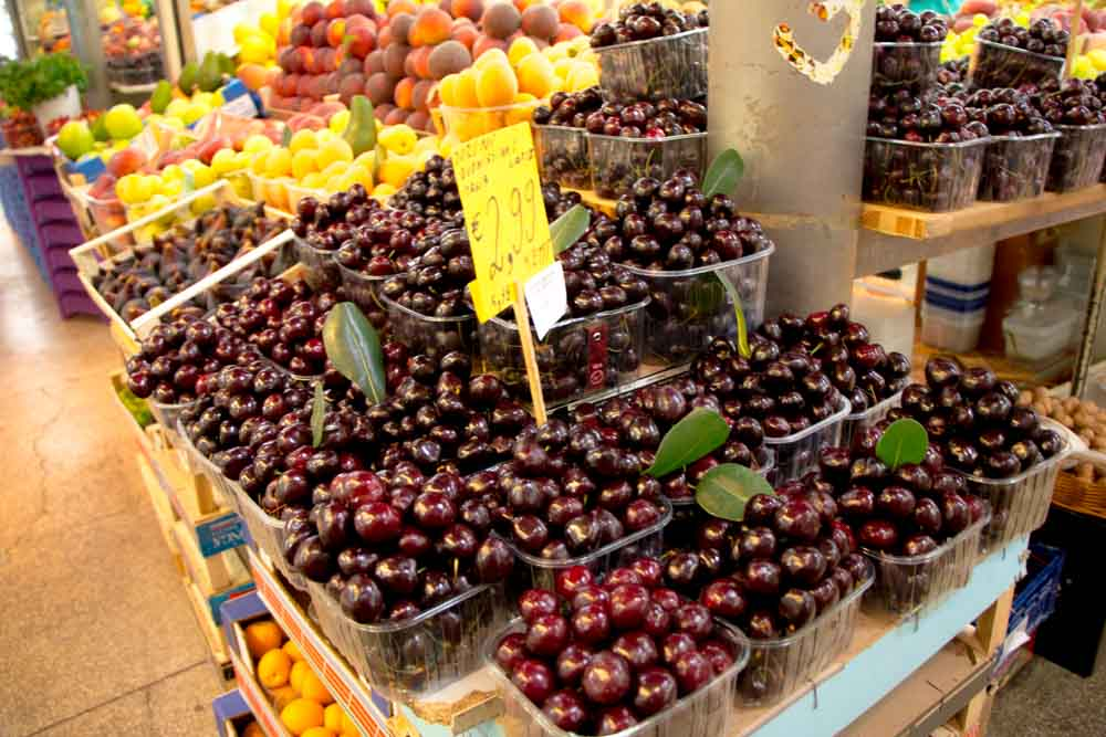 Cherries at Mercato delle Herbe - Emilia Romagna Food Experiences