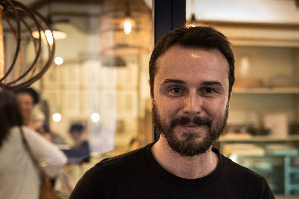 Mattia Cavalleri at Cremeria Santo Stefano in Bologna Italy