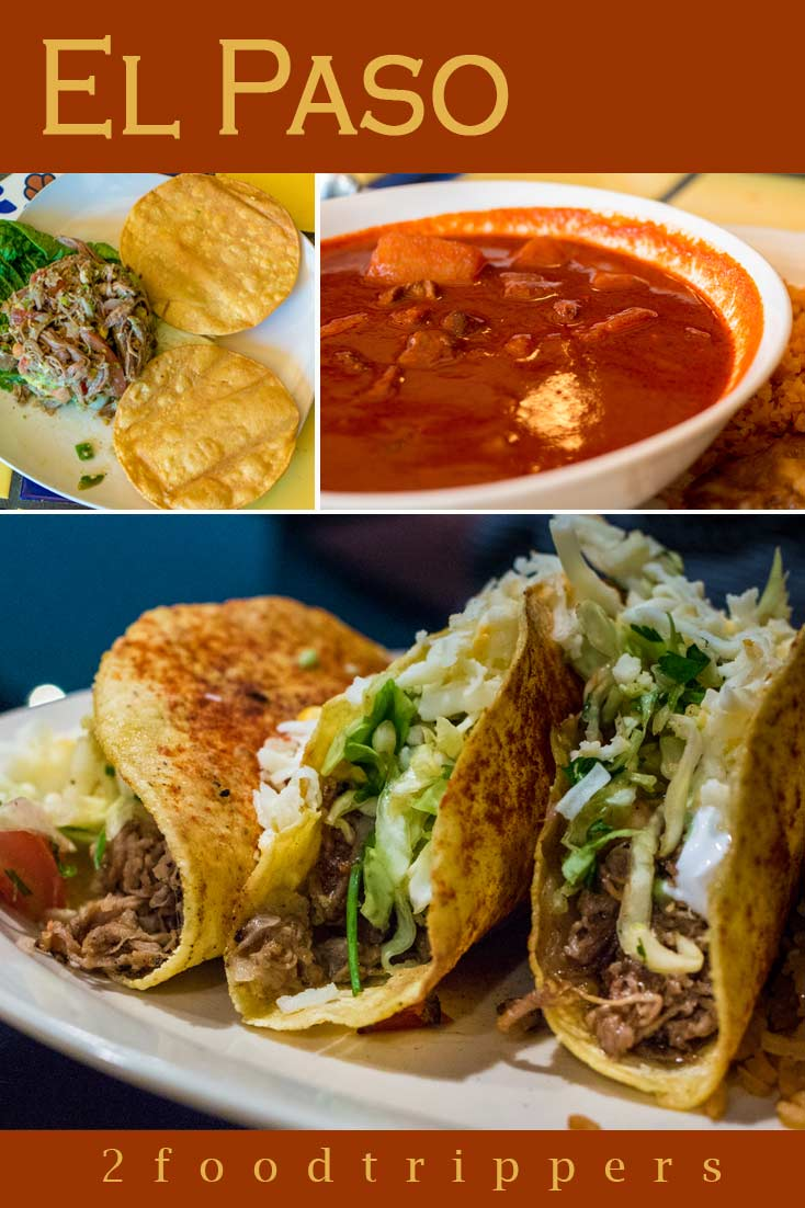 Pinterest image: three images of El Paso food with caption reading 'El Paso'