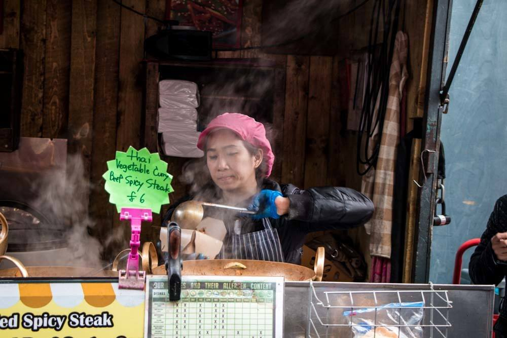 Food Vendor at Leather Lane - Best Food Markets in London