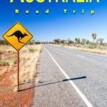 Pinterest image: image of Australia with caption reading 'Australia Road Trip'