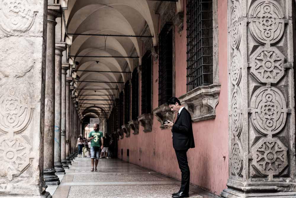 Bologna Portico Street Scene