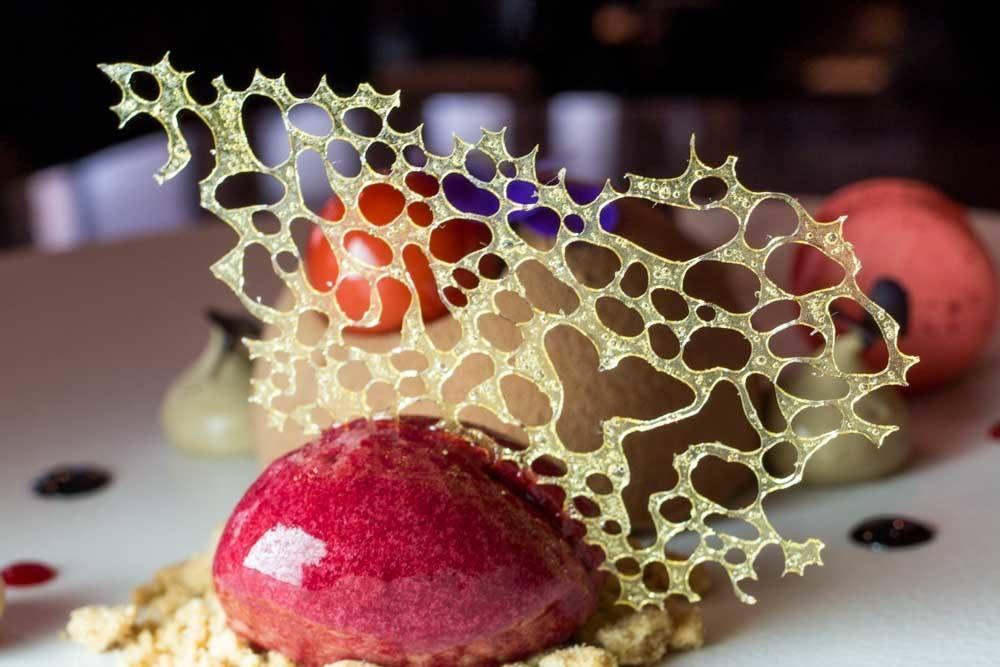 Dessert at Borkonyha Winekitchen in Budapest Hungary - Budapest Restaurants