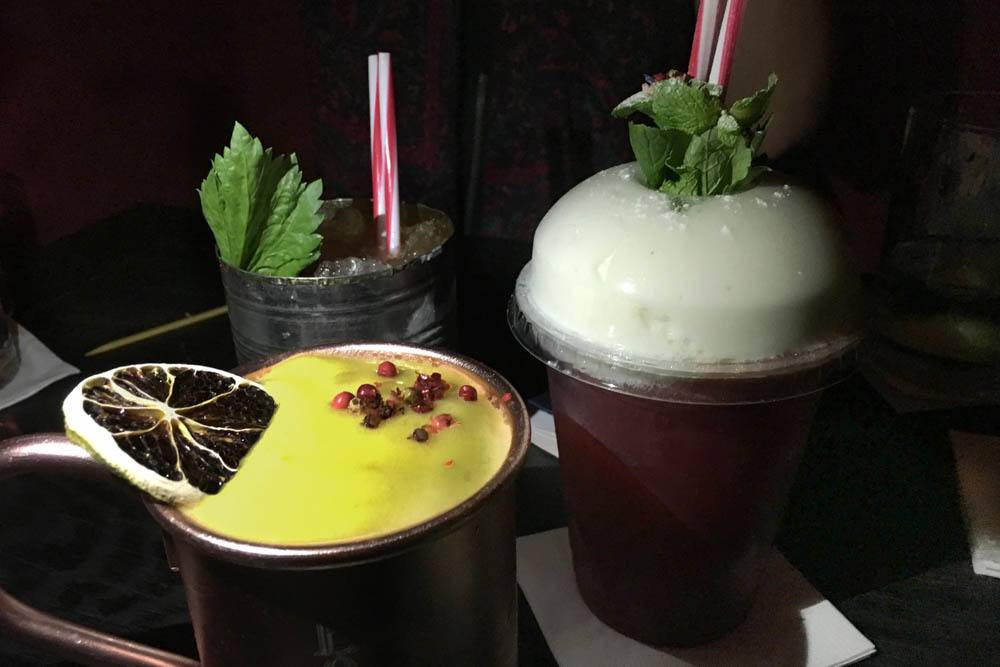Cocktails at Boutiq Bar in Budapest Hungary