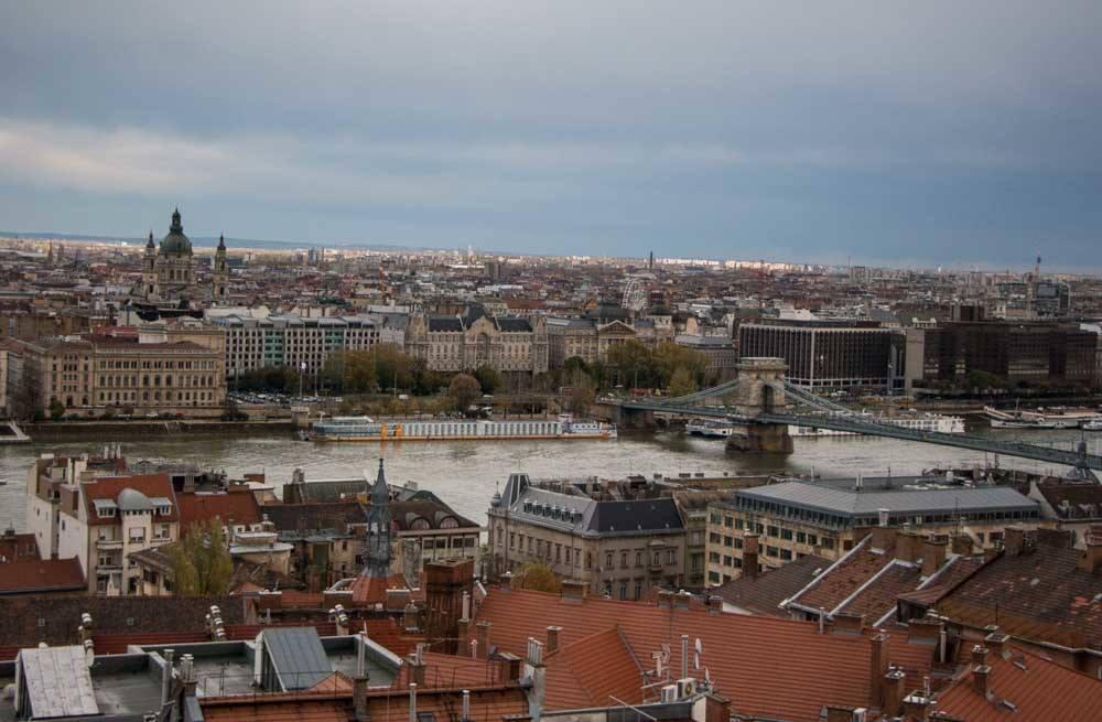 Budapest Danube River Scene