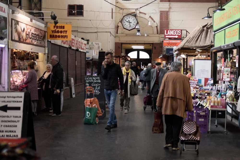 Hunyadi Market in Budapest Hungary