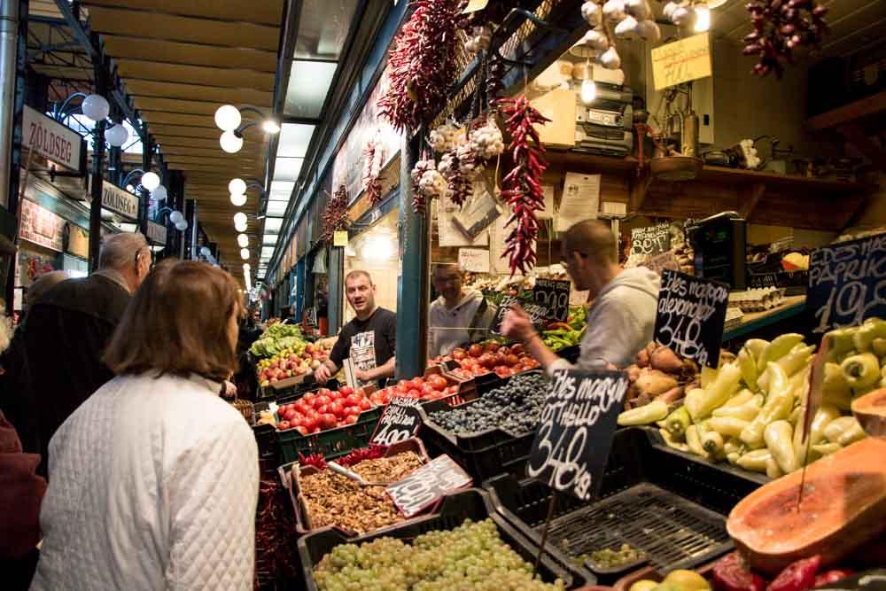 Market Vendors in Budapest Hungary