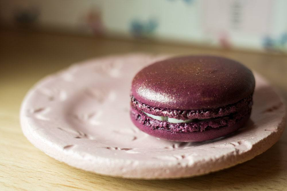 Red Wine Macaron at Chez Dodo in Budapest Hungary