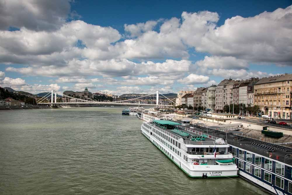 Riverboat on Danube River in Budapest Hungary