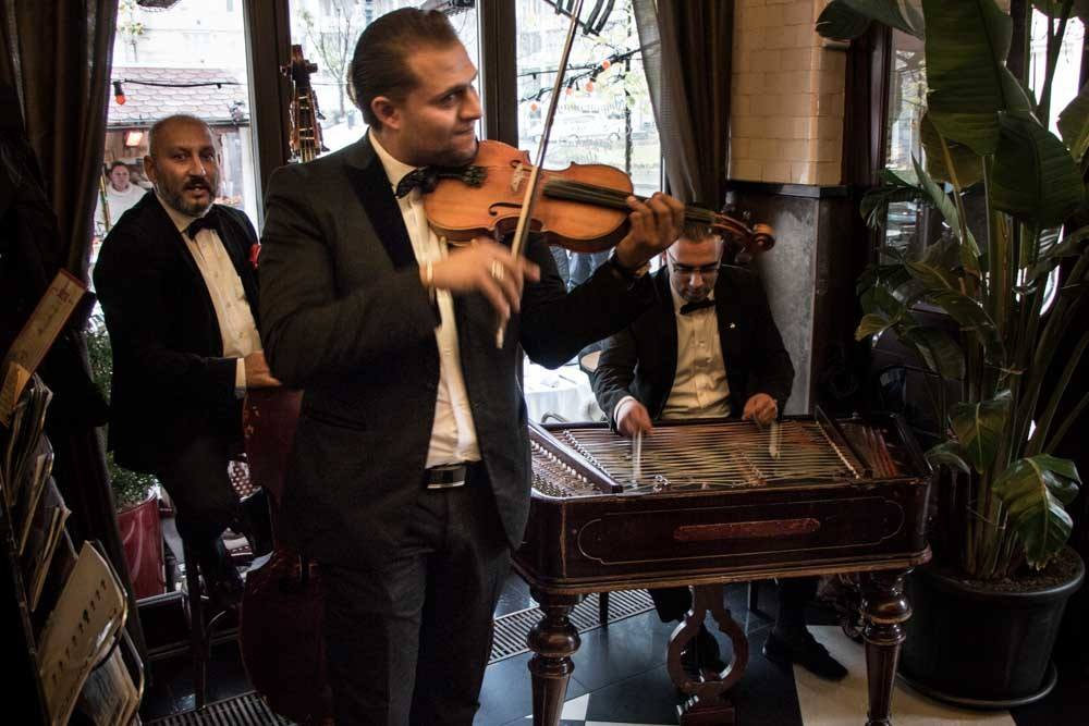 Musicians at Deryne Bistro in Budapest Hungary