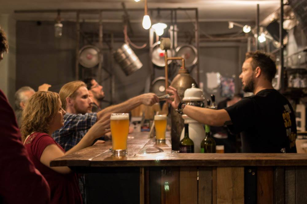 Eleszto Beer Bar in Budapest Hungary