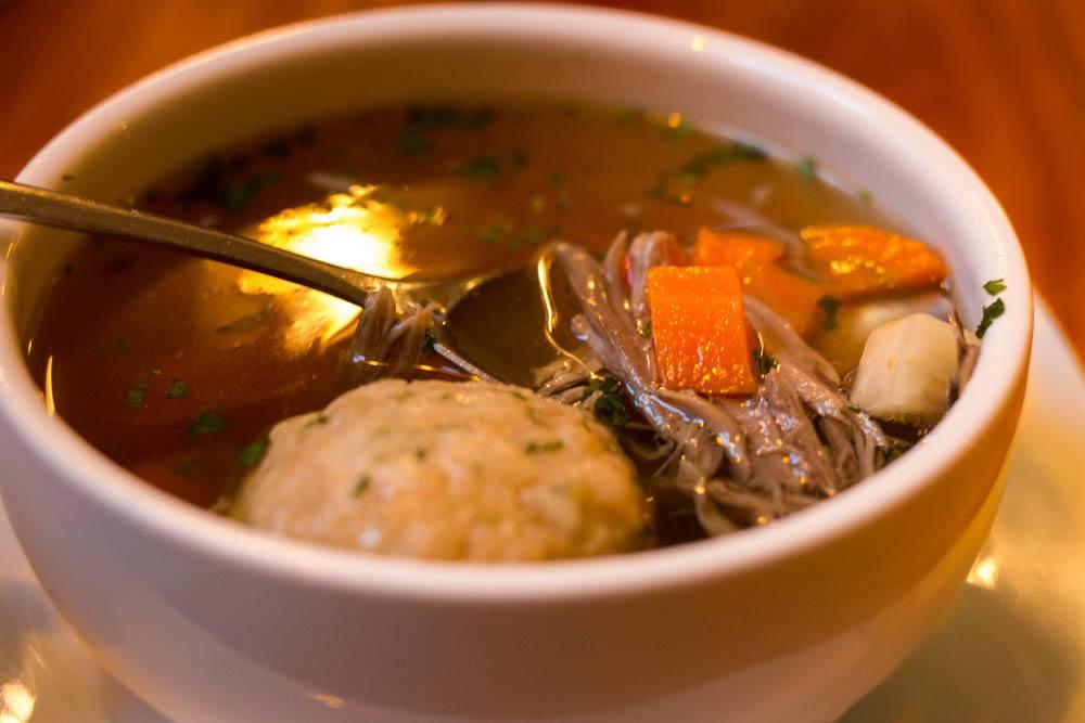 Koleves Vendeglo Matzoh Ball Soup - Budapest Restaurants