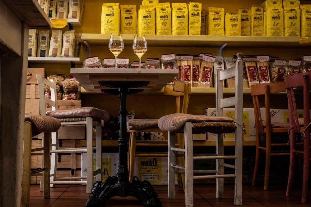 La Bottega di via Montegrappa in Bologna Italy