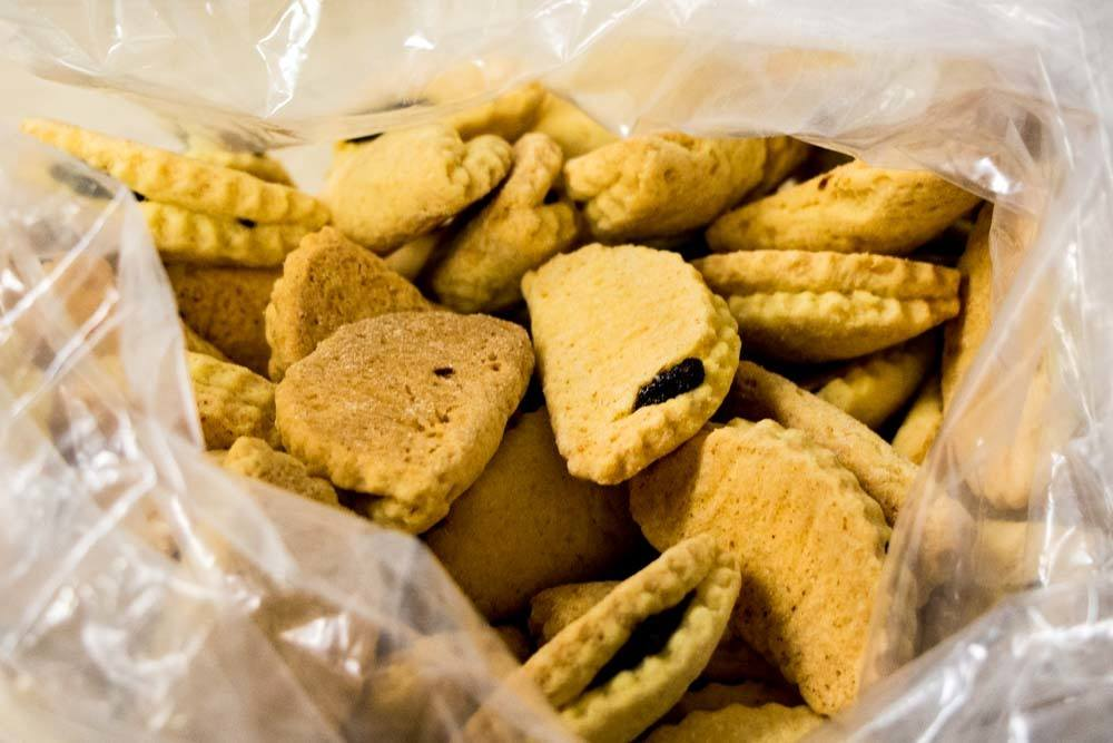 Raviole Cookies in Bologna Italy