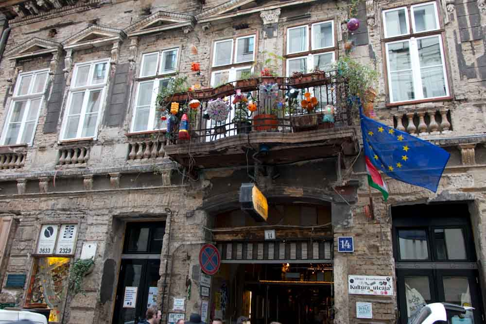 Szimpla Kert Building in Budapest Hungary