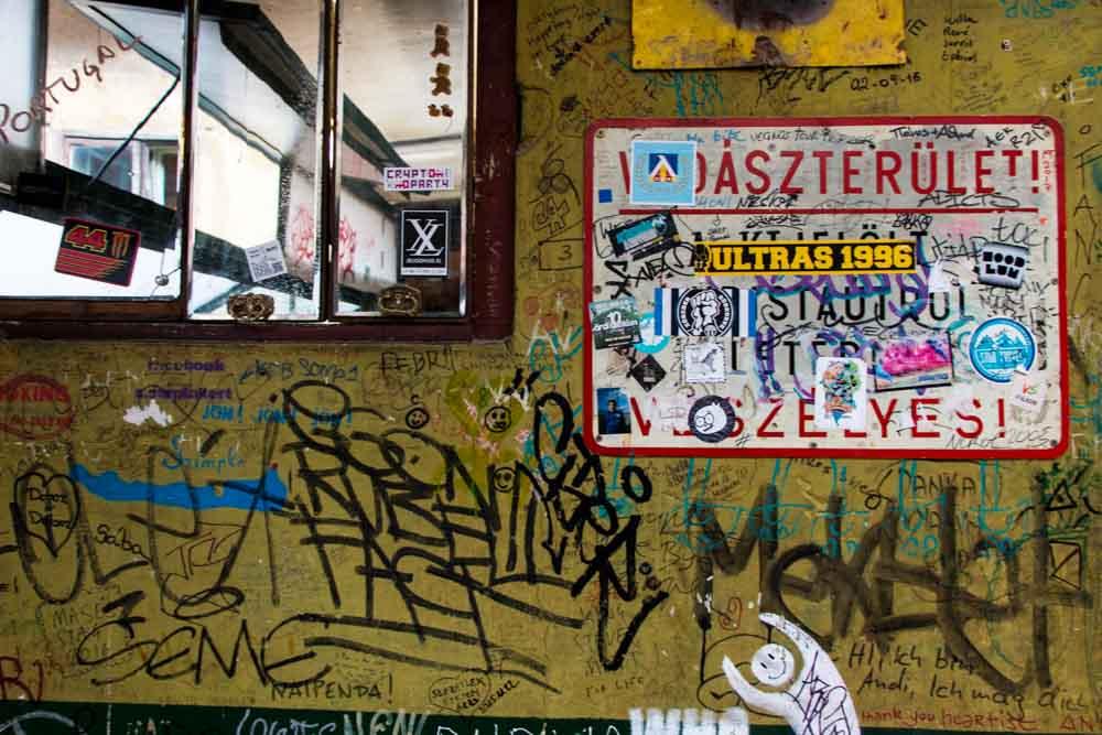 Graffiti at Szimpla Kert in Budapest Hungary