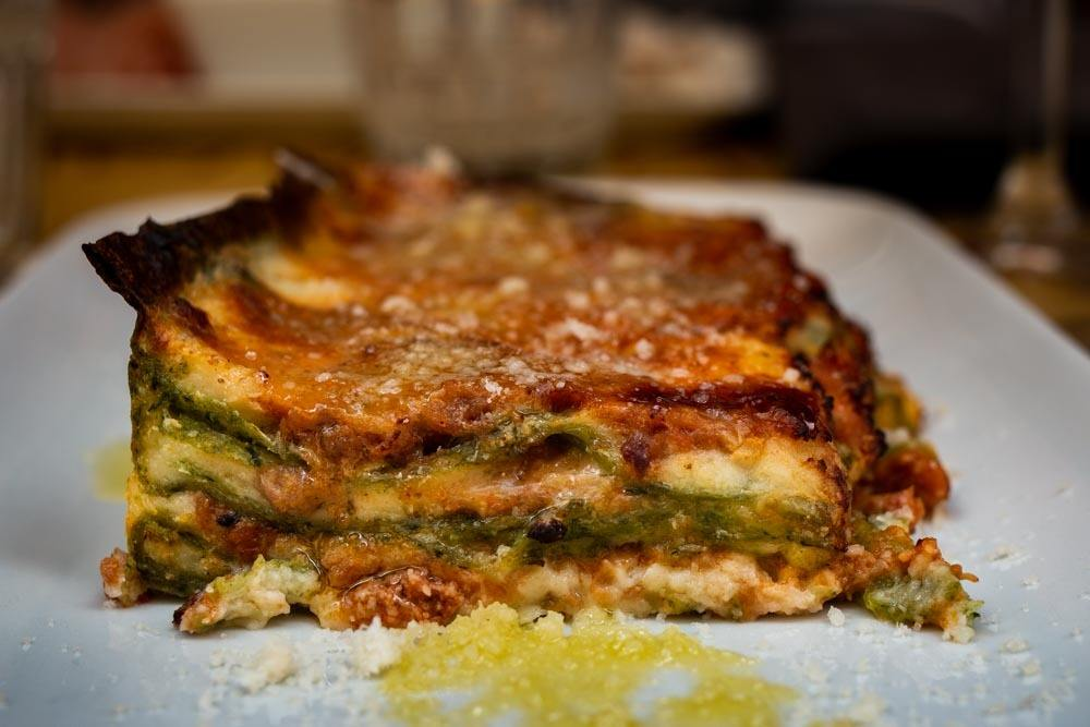 Traditional Lasagna at Vineria Favalli in Bologna Italy