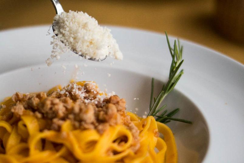 Trattoria di Via Serra - Tagliatelle al Ragu Bolognesewith Parmigiana Reggiano - Bologna Food Guide