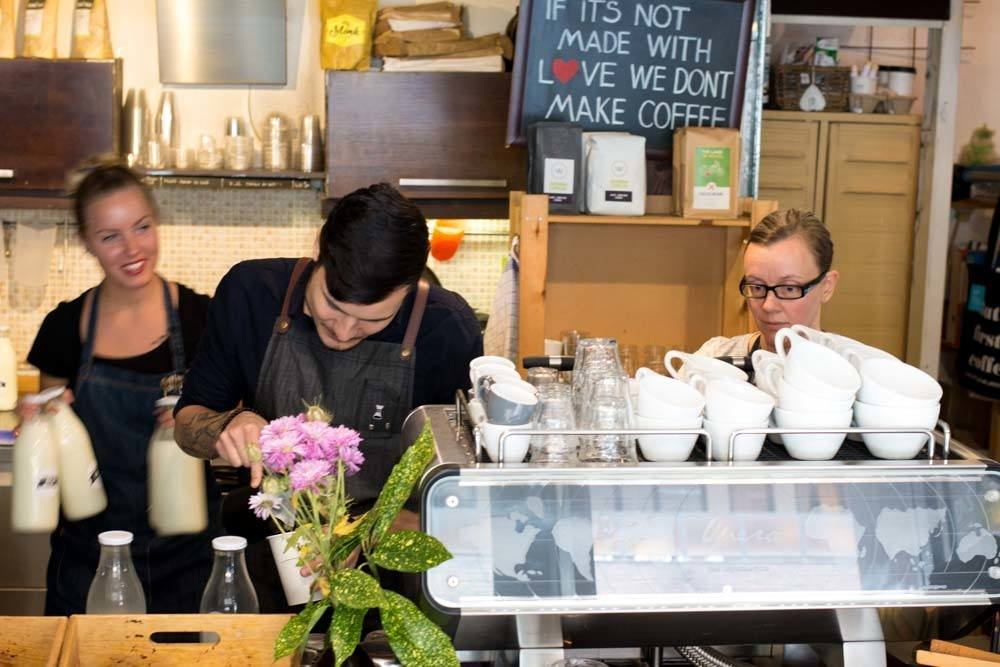 Baristas at My Little Melbourne in Budapest Hungary