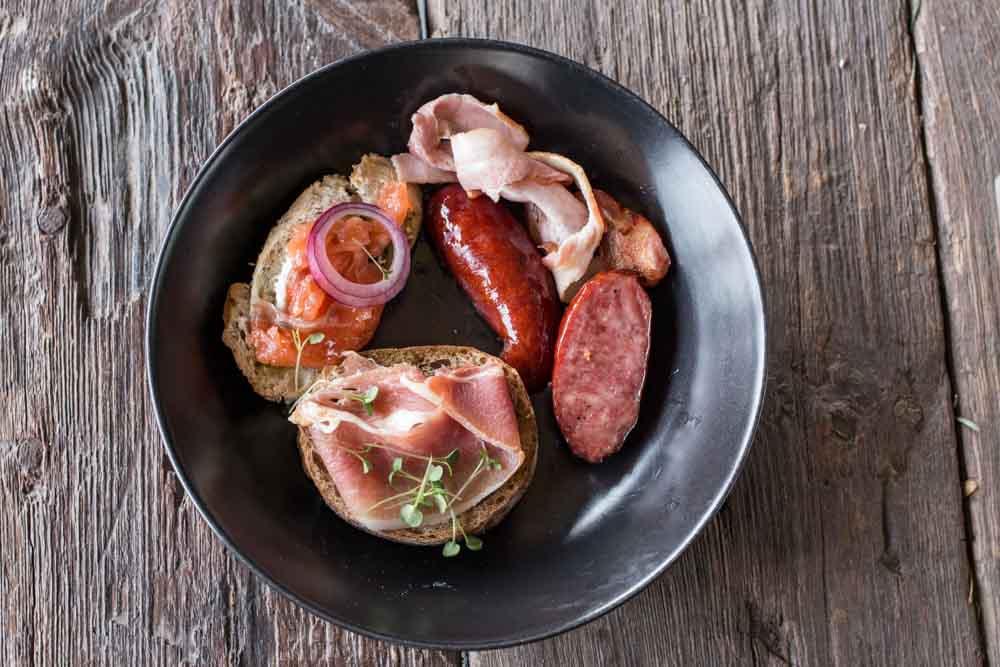 Annas Darzs Brunch Plate - Riga Restaurants