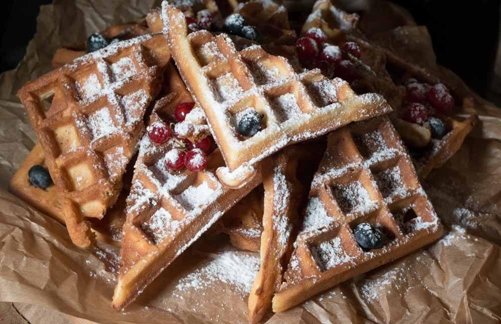 Waffles at Annas Darzs - Riga Restaurants