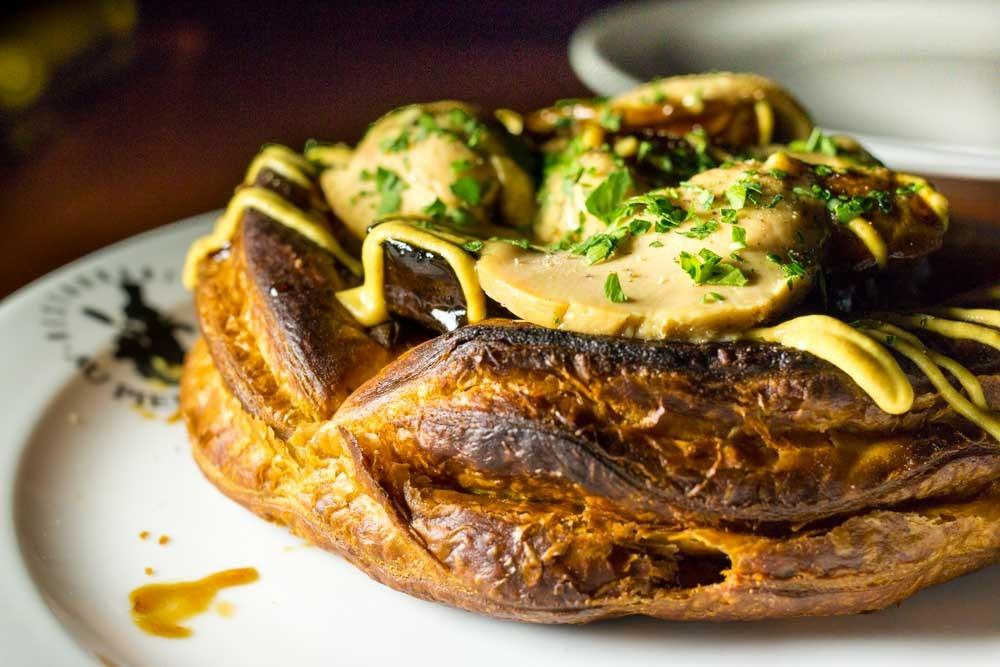 Boudin Tart at Au Pied de Cochon in Montreal Canada - Iconic Montreal Restaurants