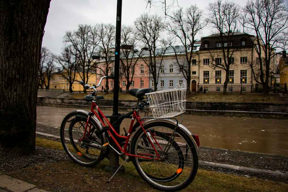 Bike on Aura River Bank in Turku