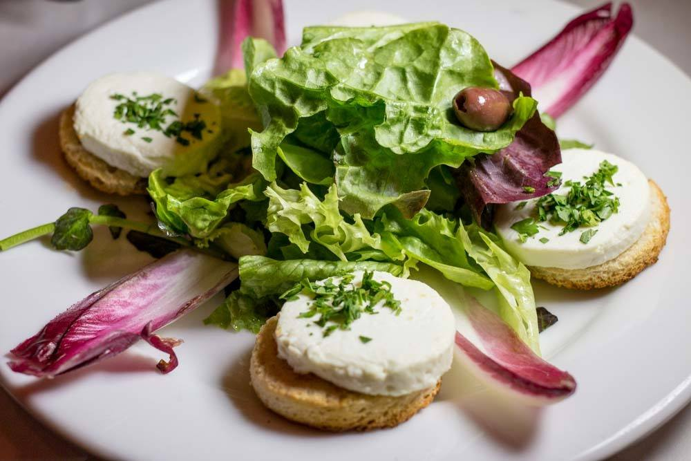 Chevre Salad at L'Express in Montreal Canada