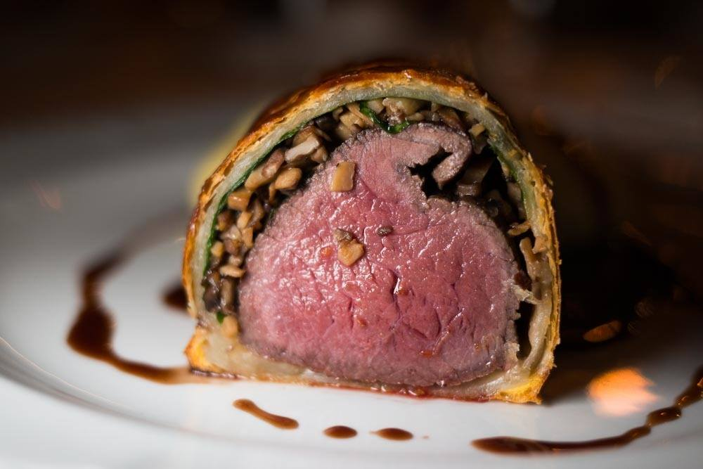 Venison Wellington at Liepupe Manor in Latvia