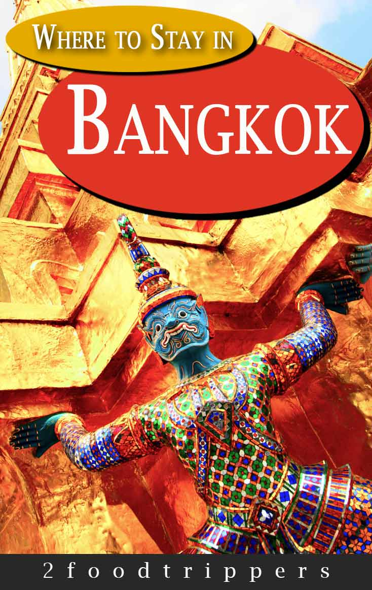 Pinterest image: image of Bangkok with caption reading 'Where to Stay in Bangkok'