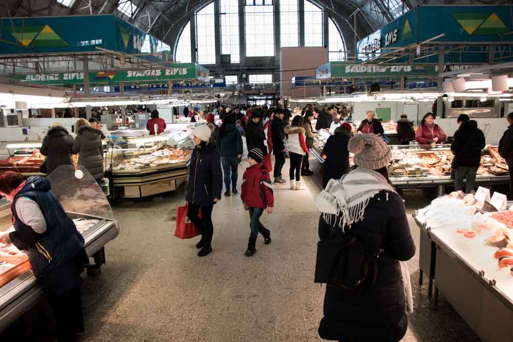 Inside Riga Central Market