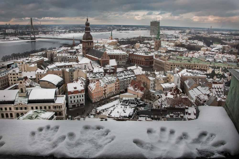 View from St. Peters Church in Riga Latvia