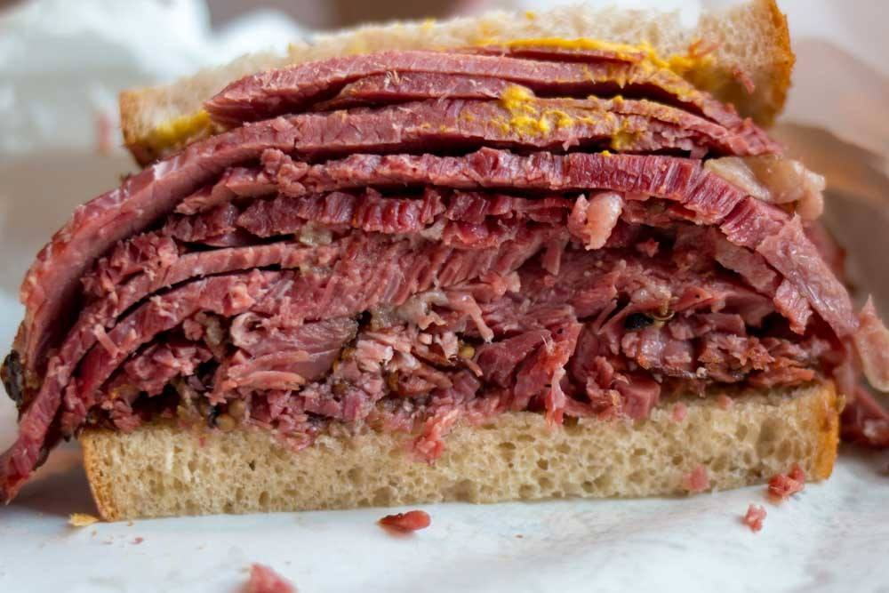 Smoked Meat Sandwich at Schwartz's in Montreal Canada
