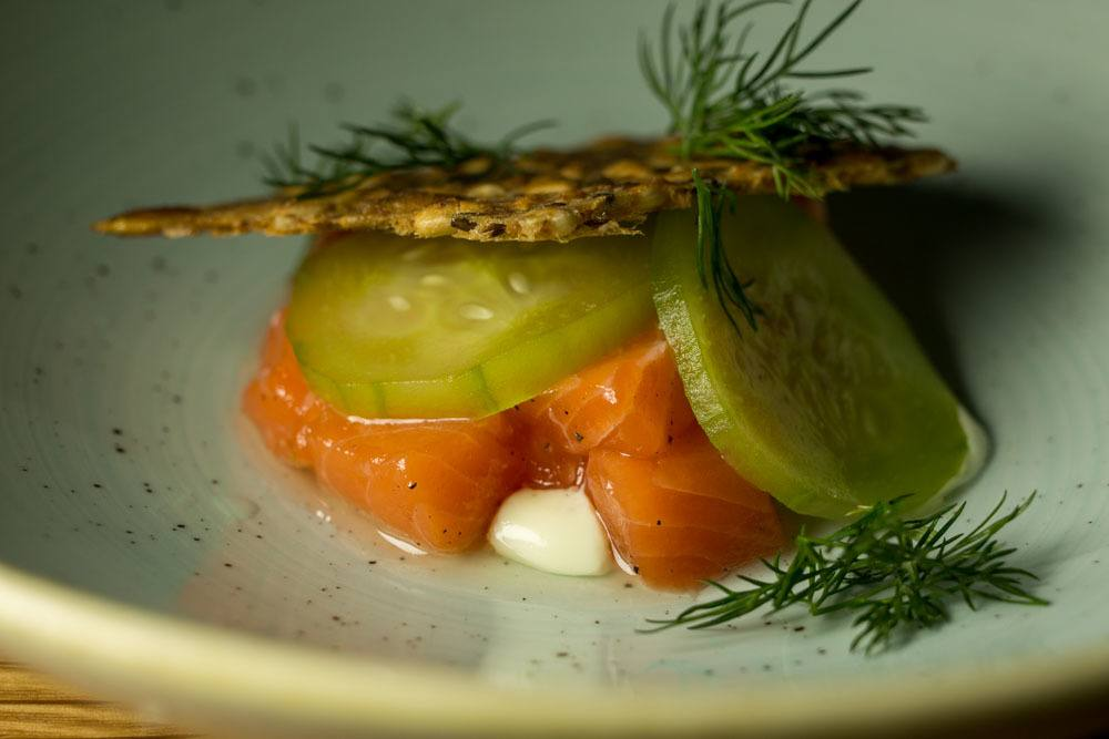 Rainbow Trout Tartine at Smor - Turku Restaurants