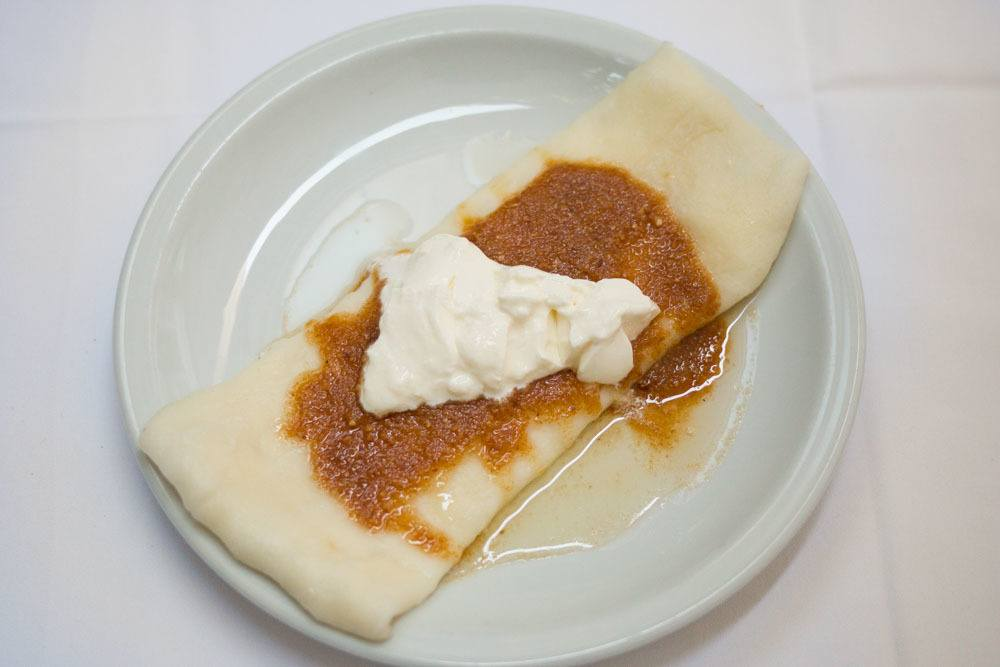 Boiled Strukli at Purger - Zagreb Restaurants
