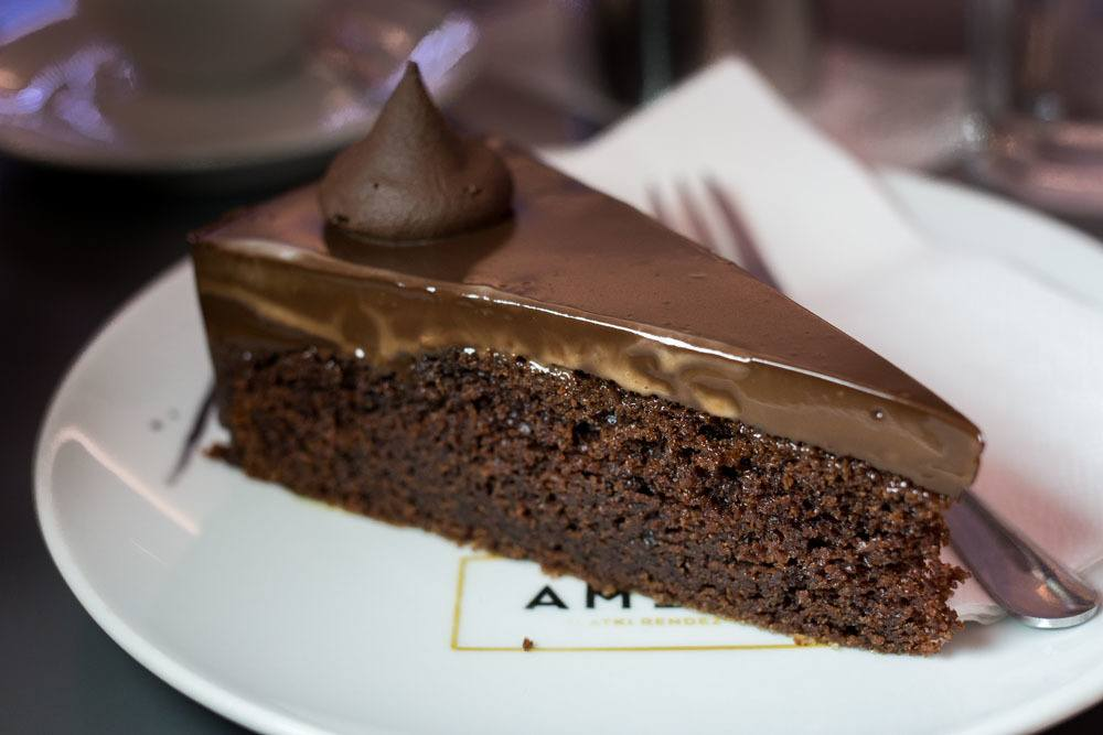 Chocolate Cake at Amelie in Zagreb Croatia