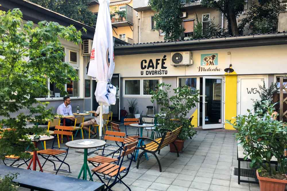 Cafe U Dvorista in Zagreb Croatia